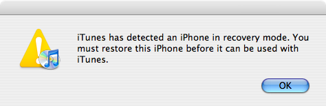 Restore iPhone Firmware