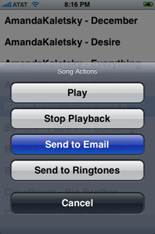 SendSong iPhone Ringtones