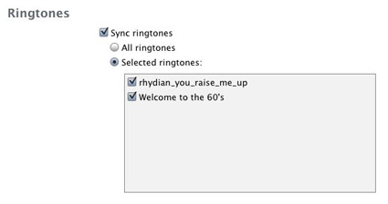 Custom Ringtones