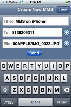MMS iPhone