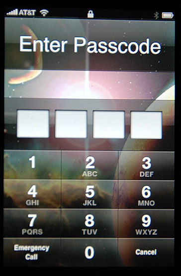 iphone passcode
