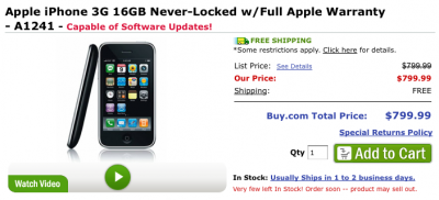 Unlocked iPhone 3G