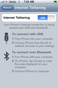 Tethering T-Mobile iPhone 3G