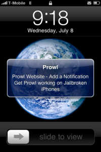 Prowl Push Notifications On Jailbroken iPhone