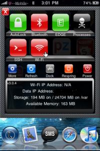 SBSettings iPhone 3GS